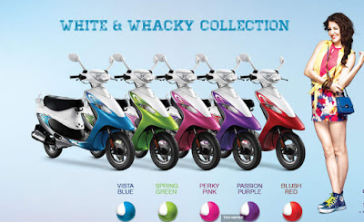 2016 TVS Scooty Pep Plus Hd Wallpaper 5 color
