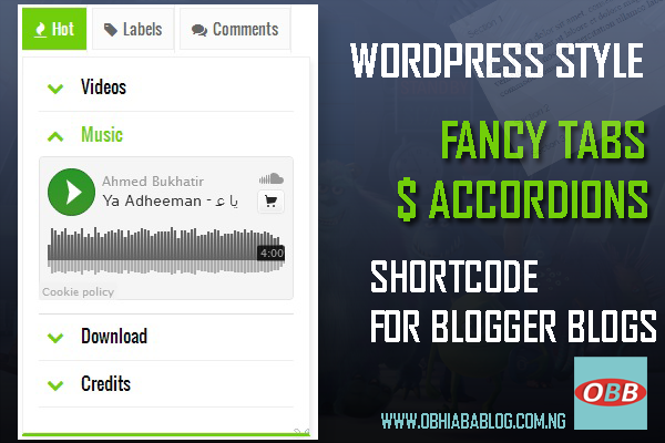 blogger Tab and accodion shortcode