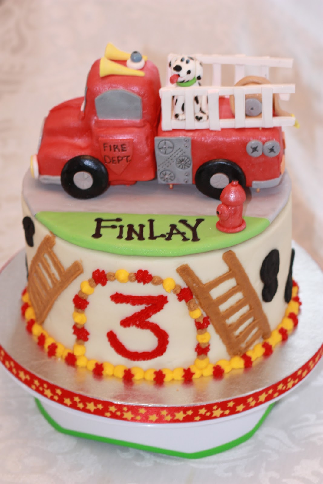 Sweet Celebrations Happy Birthday Finlay Fire Truck