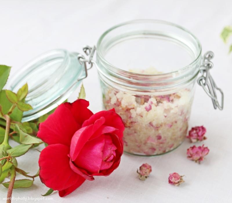 peeling różany, peeling diy, peeling handmade