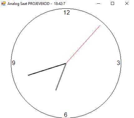 C# Analog Saat Yapımı (Analog Clock)