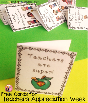 Free download Teachers Appreciation Week Cards