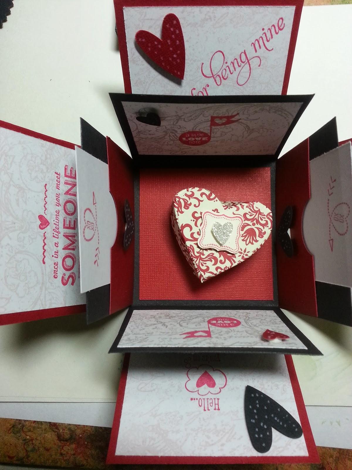 Amethystar Crafting Stampin Up Happy Valentine S Day Explosion Box