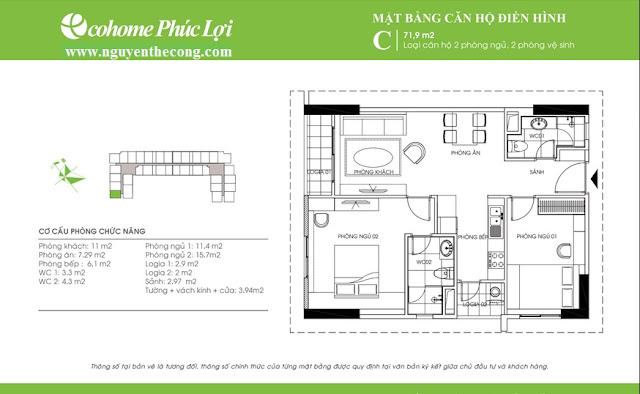 Thiết kế chung cư Ecohome Phúc Lợi