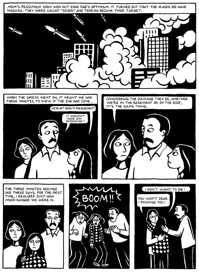 Read Chapter 18 - The Shabbat, page 134, from Marjane Satrapi's Persepolis 1 - The Story of a Childhood