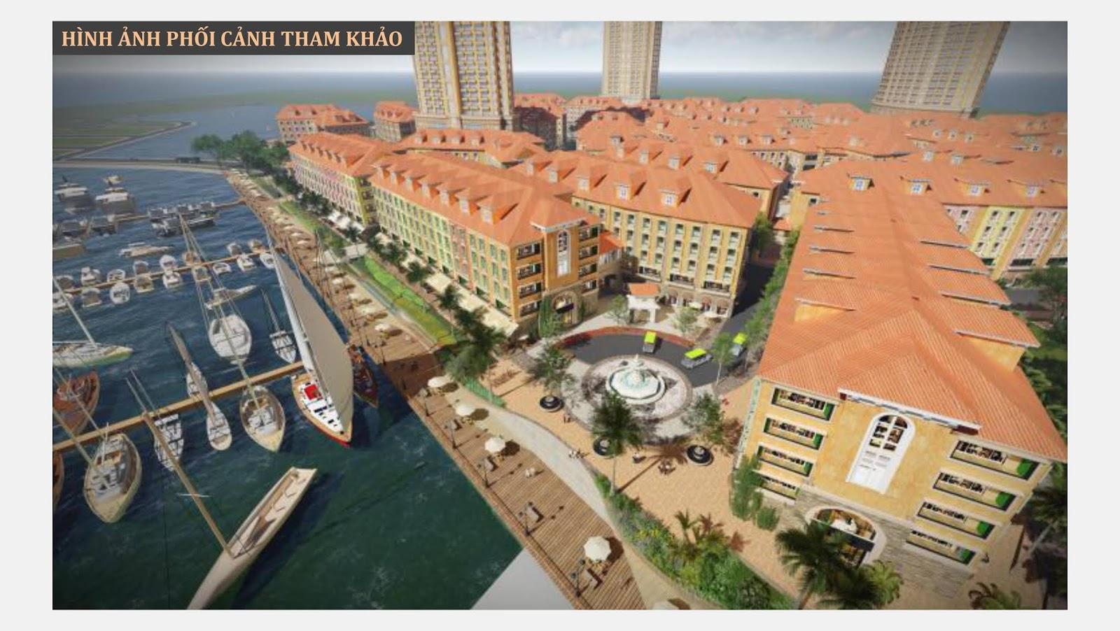 Phối cảnh thiết kế Nhà phố Harbor Bay