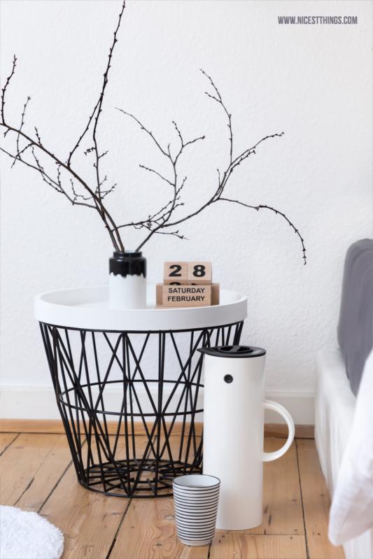 Drahtkorb Tisch Ferm Living Wire Basket Drahtkorb schwarz #fermliving #wirebasket #nachttisch #drahtkorb #schlafzimmer #bedroom #stelton
