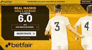 betfair supercuota victoria de Real Madrid a Real Sociedad 17 Septiembre