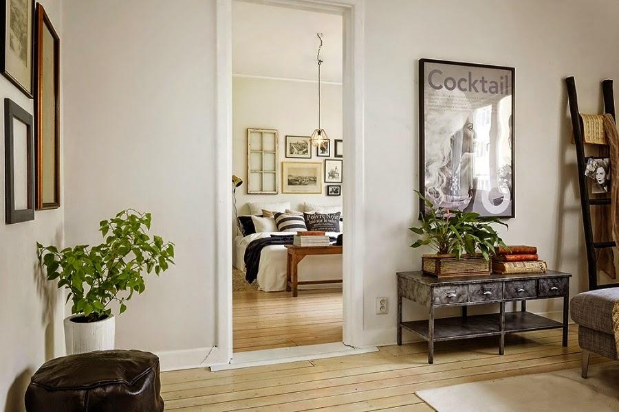 styl skandynawski, vintage, dodatki, dekoracje, ramki, drabina, skrzynka, IKEA, salon, sypialnia