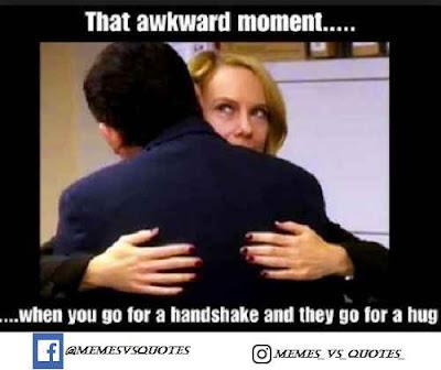 Hug awkward meme