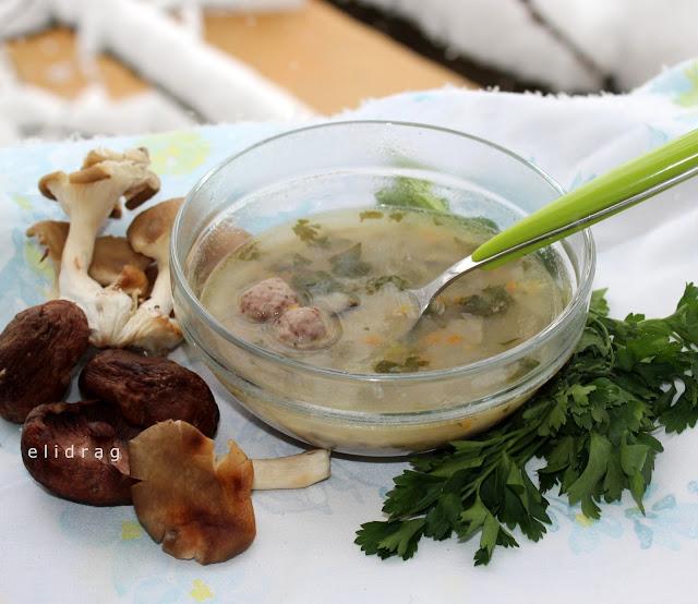 Сгряваща супа с гъби лук и още нещо