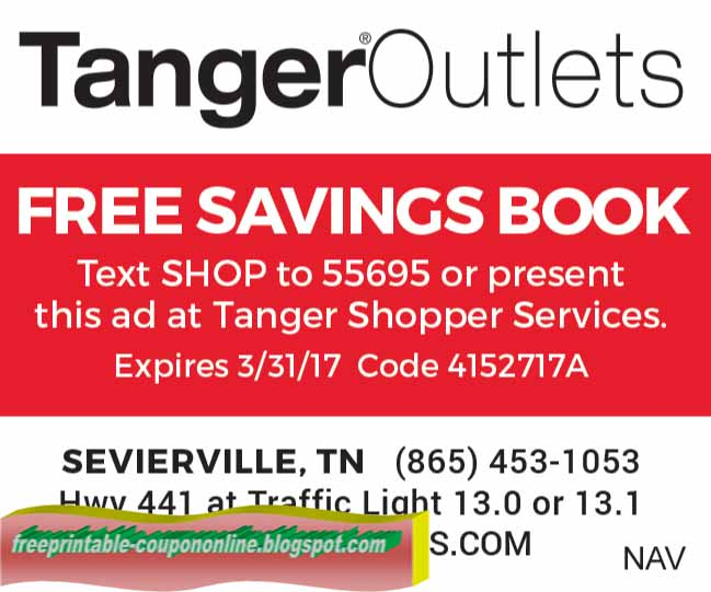 Tanger coupons
