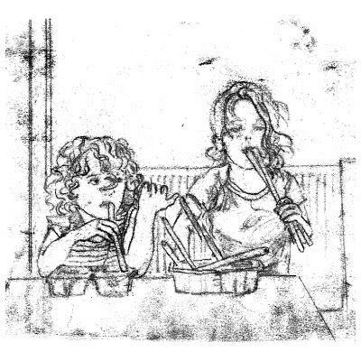 Natasha Gomperts, monoprinting, Breadsticks