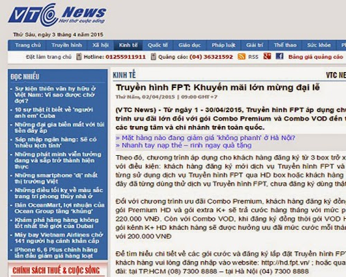 Truyền Hình Internet FPT Trên Các Trang Tạp Chí Uy Tín 2