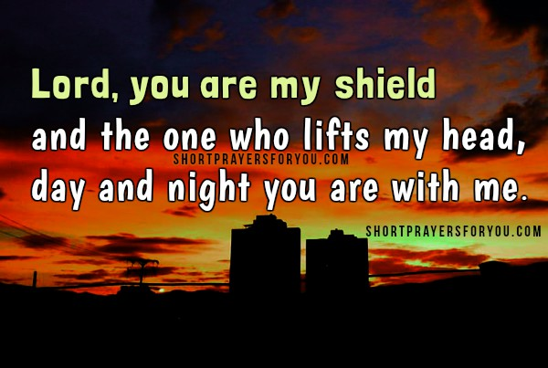 Short prayer at night before going to bed, night prayer, bedtime christian quotes and image by Mery Bracho.