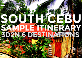 South Cebu Sample Itinerary - 6 Destinations 3D2N