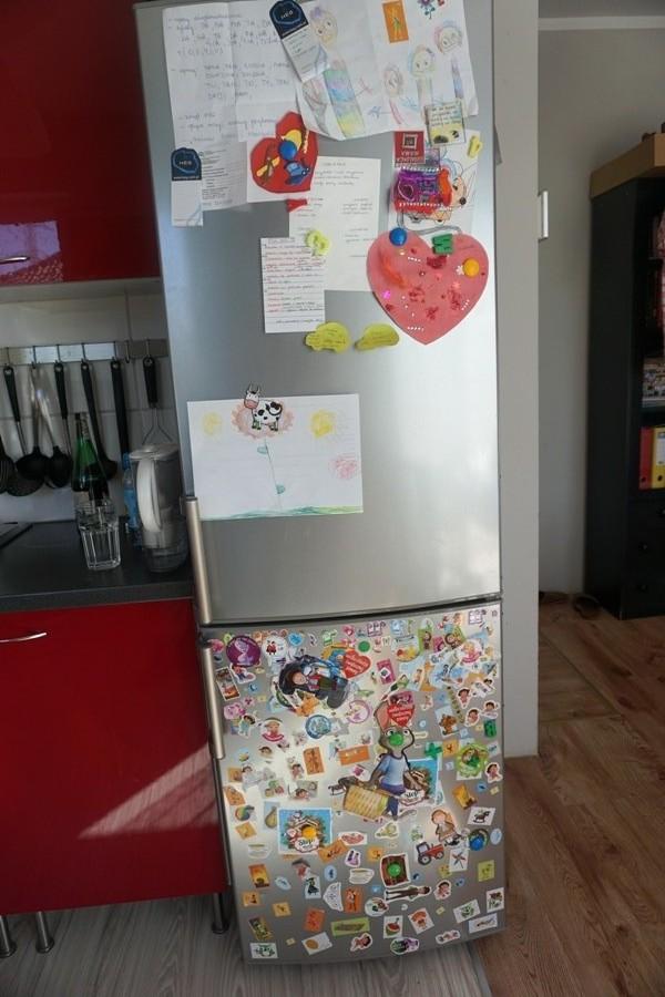 lodówka, dom z dziećmi, naklejki, magnesy
