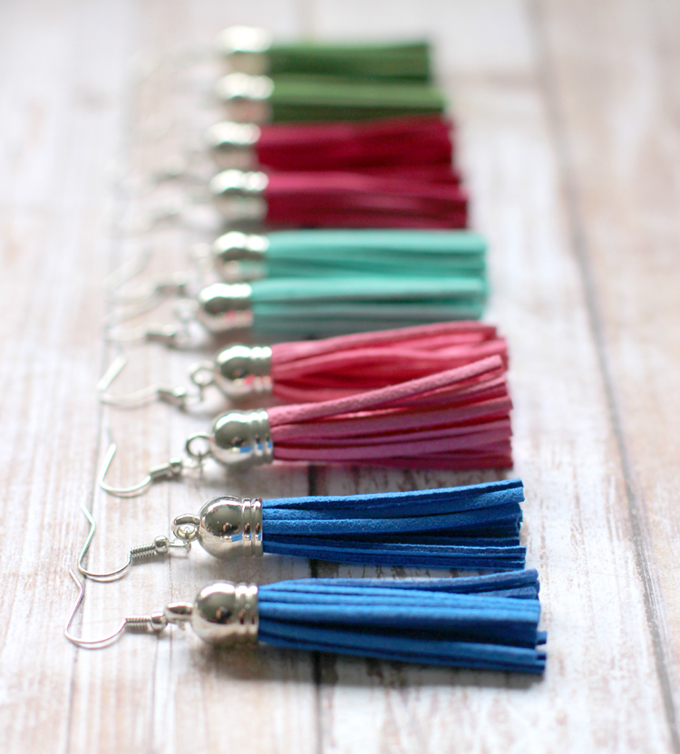 DIY a pair of these fun suede tassel earrings!