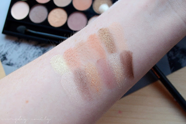 Sleek eyeshadow palette in A New Day swatches on arm