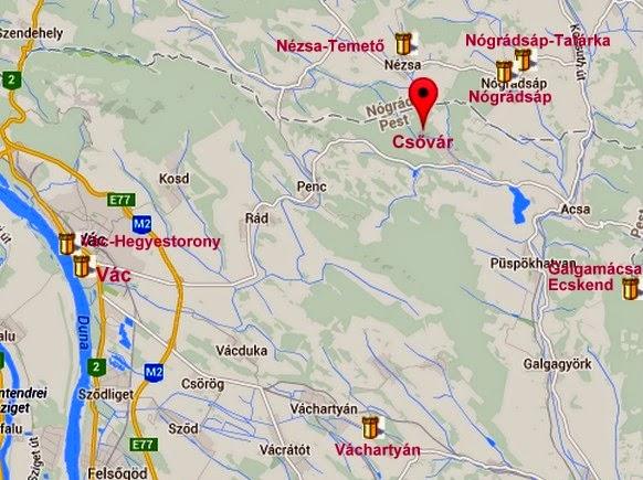 csővár térkép Denever: Csővár