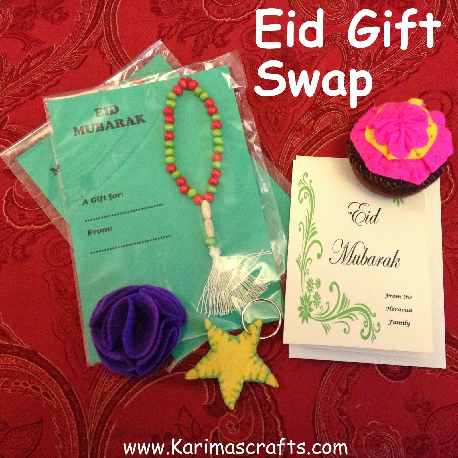 karima's crafts eid gift swap 2013