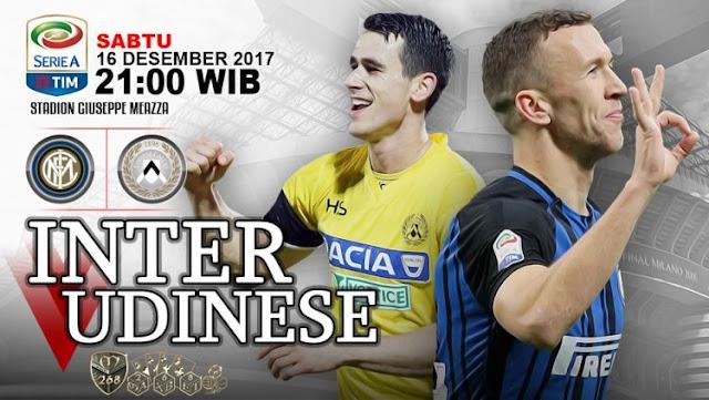 Prediksi Bola : Inter Milan Vs Udinese , Sabtu 16 Desember 2017 Pukul 21.00 WIB