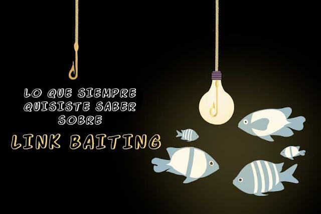 link baiting: peces atraídos por un anzuelo con una bombilla iluminada