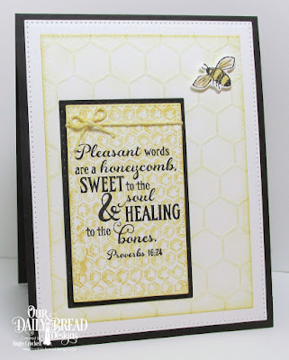 ODBD Bee Happy, ODBD Honeycomb Mini, ODBD Custom Pierced Rectangles Dies, Card Designer Angie Crockett