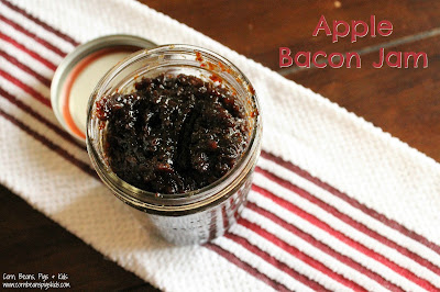 Apple Bacon Jam - the perfect savory, sweet jam to put on top of anything and everything! Burgers, Grilled Cheese, Bread, Pancakes and more! #AppleWeek
