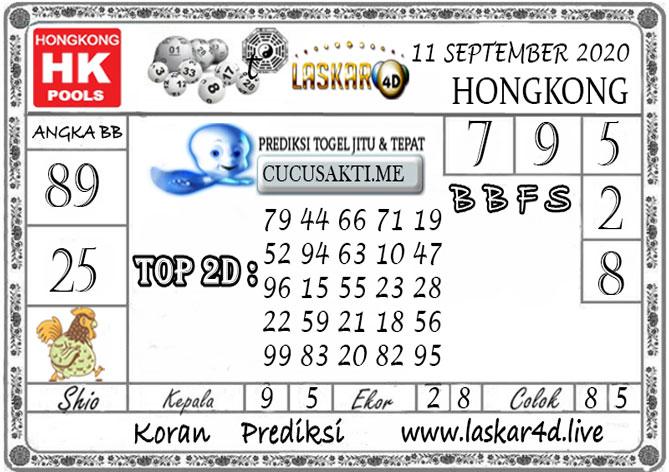 Prediksi Togel HONGKONG LASKAR4D 11 SEPTEMBER 2020