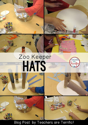STEM Challenge: The story I posed to these second graders was this: You work for a zoo and you make hats for each zoo keeper. Check this blog post for more!