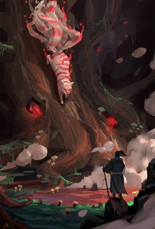 XiaoDong Xu XDXU artstation arte ilustrações fantasia games