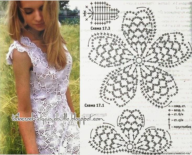 Vestido de encaje crochet hecho a mano