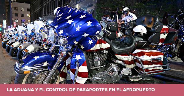 La aduana y control de pasaporte en los aeropuertos de Nueva York
