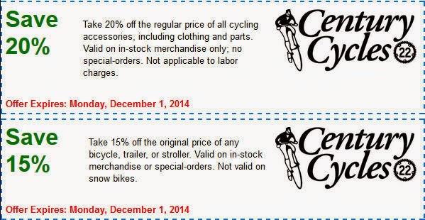 a9f6a97bdf2 Century Cycles Blog: Black Friday Sale - Fri. Nov. 28 thru Mon. Dec. 1, 2014