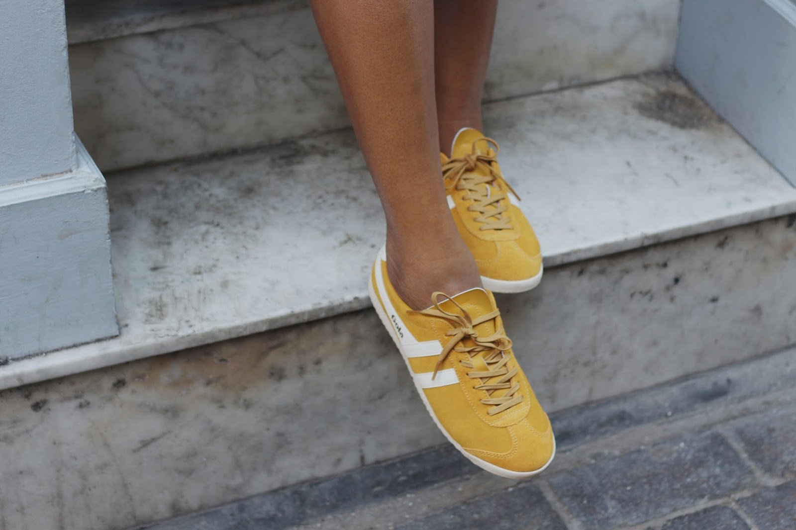 gola mustard trainers