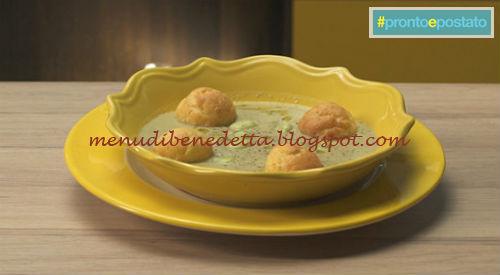 Pronto e postato - Crema di fave con bignè di parmigiano ricetta Benedetta Parodi