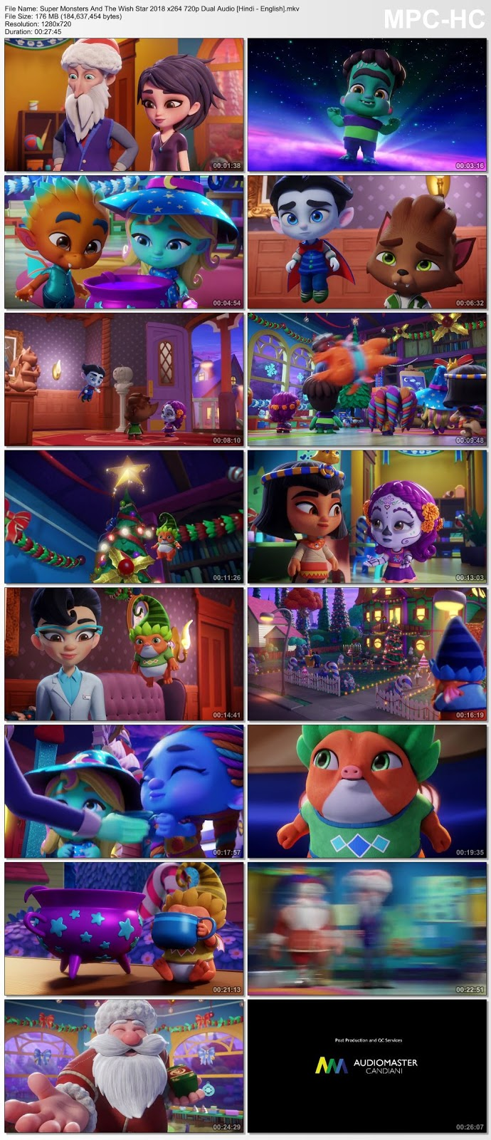 Super Monsters And The Wish Star (2018) Short Movie 720p Dual Audio [Hindi – English] – 170MB Desirehub