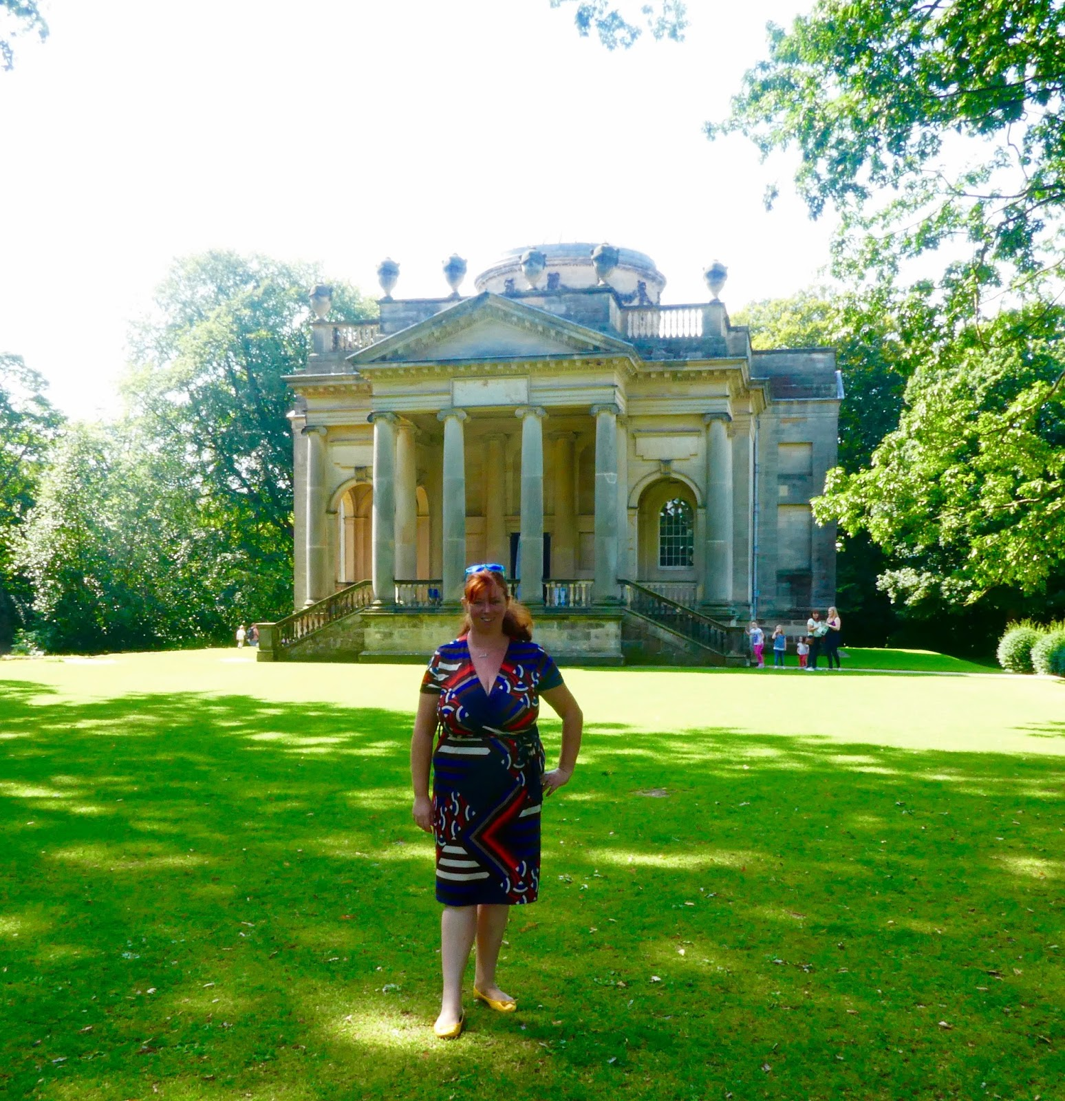 My favourite dress for autumn - Pink Clove Plus Size Wrap Dress Review - Gibside Chapel