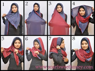 Berbagai Cara Memakai Jilbab Pashmina Yang Menginspirasi