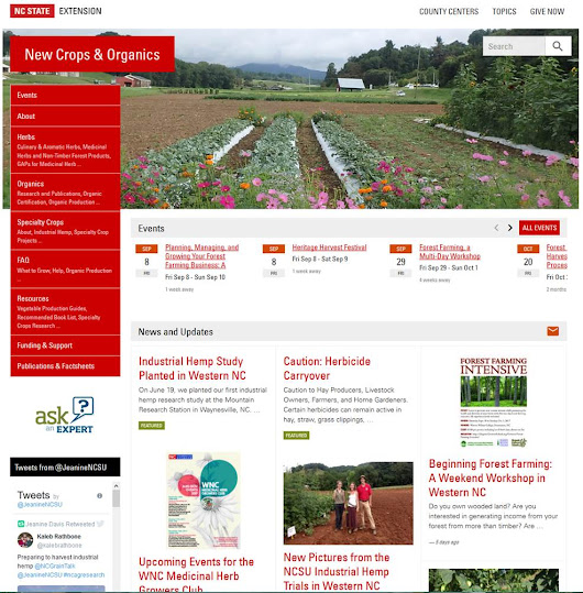 NC Alternative Crops and Organics: Correction on Jeanine Davis's new website address!
