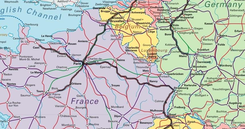 Matkalla Jossain Euroopan Junakartta