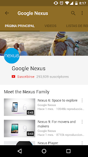 YOUTUBE 6.0.11 PARA ANDROID CON MATERIAL DESIGN