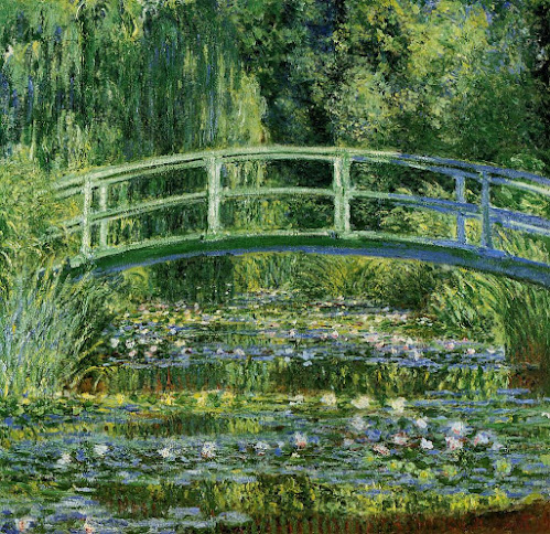 Nenúfares y puente japonés - Monet