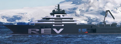 barco REV de El multimillonario noruego Kjell Inge Røkke para limpiar el mar