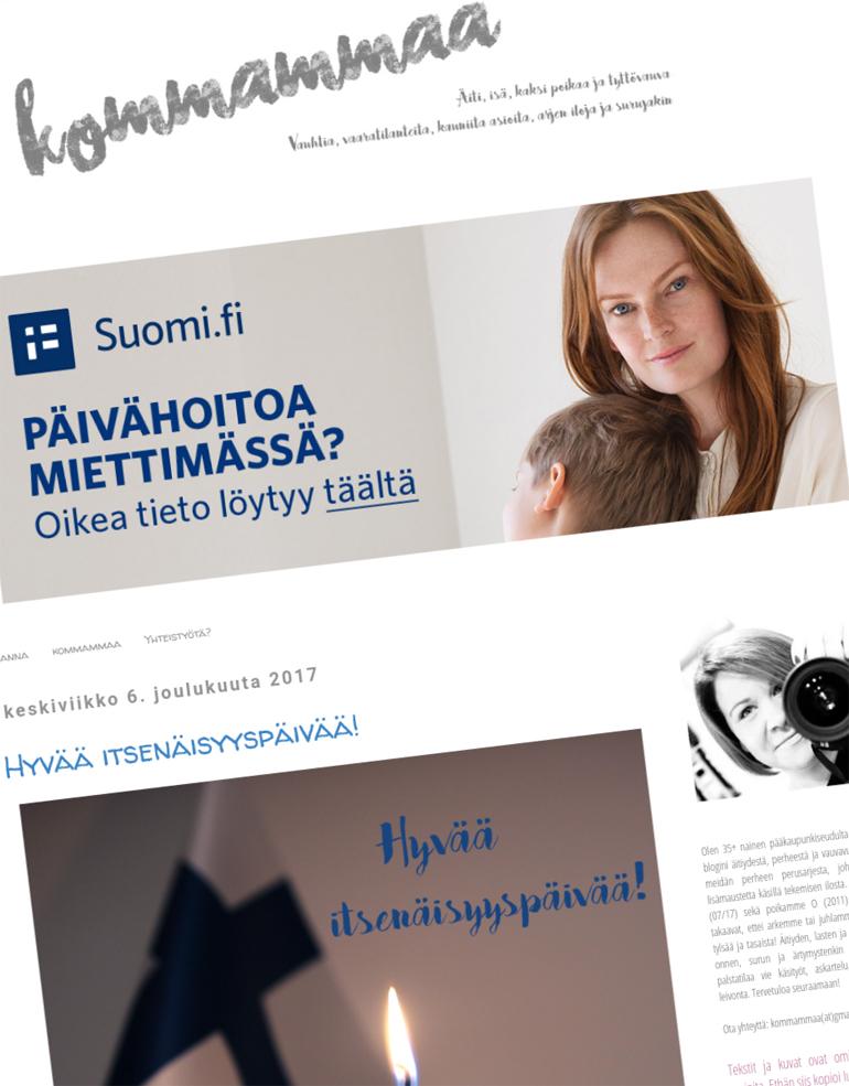 kommammaa kommammaa.fi oma domain uusi osoite
