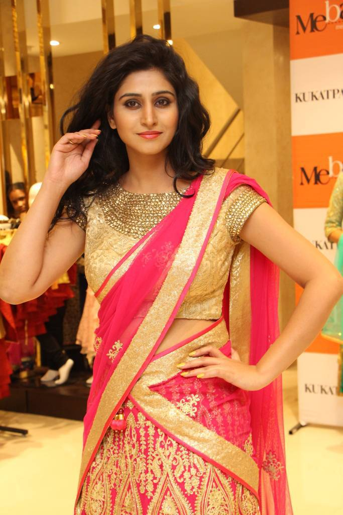 Shamili In Traditional Red Half Saree At Summer Collection
