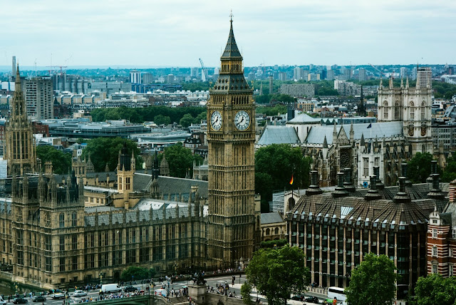 View of London, featuring Big Ben