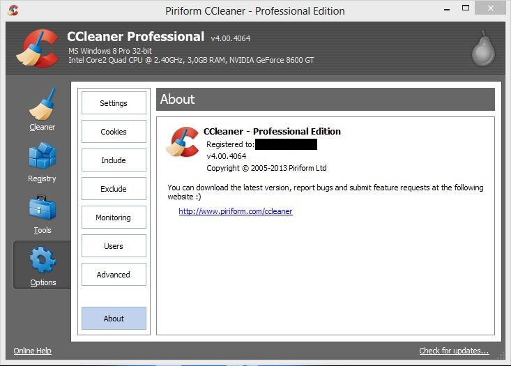 CCleaner 4.00.4064 Professional Retail With Serial Key ...