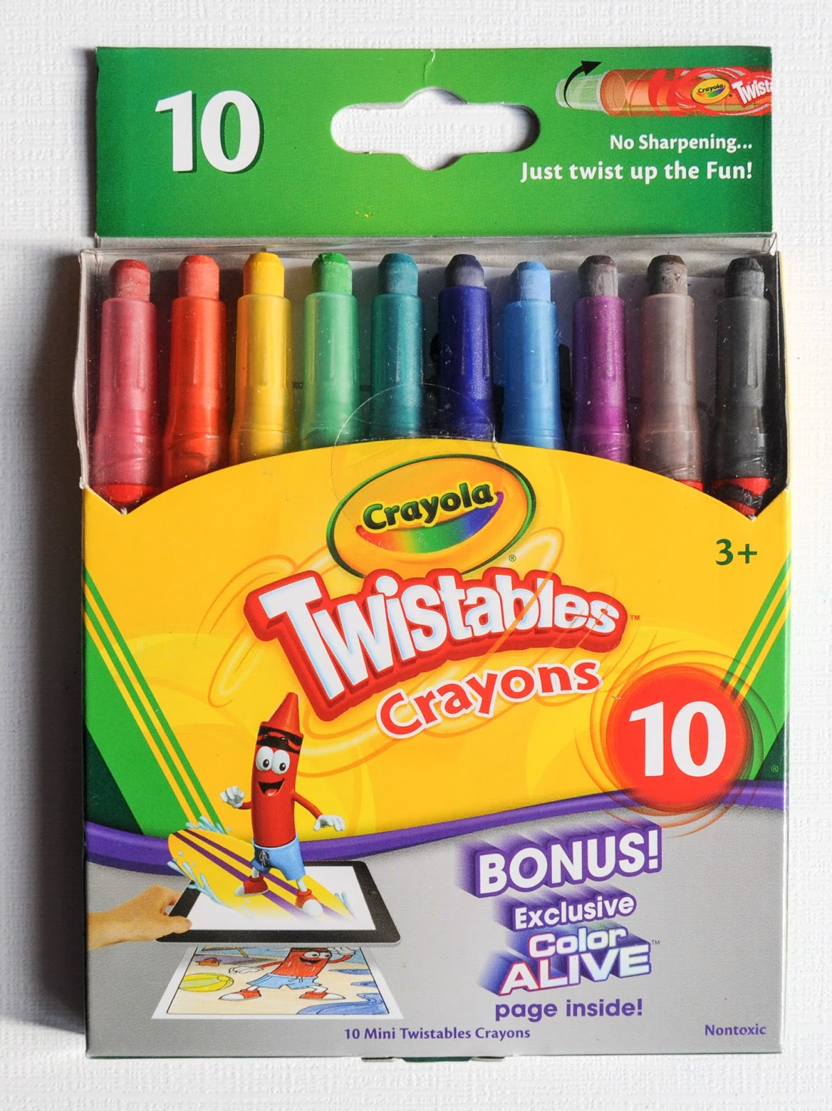 10 Count Crayola Twistables Crayons What S Inside The Box